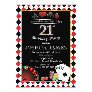 einladungskarten geburtstag casino