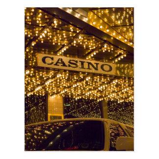 Kasino-helle Lichter Las Vegas, das Geld spielt Postkarte