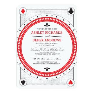 Kasino-Hochzeit laden durch Origami Drucke ein 12,7 X 17,8 Cm Einladungskarte
