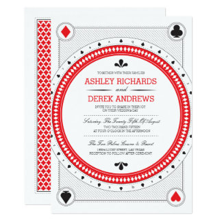 Kasino-Hochzeit laden durch Origami Drucke ein Karte