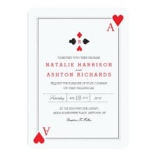Kasino-Hochzeit laden ein 12,7 X 17,8 Cm Einladungskarte
