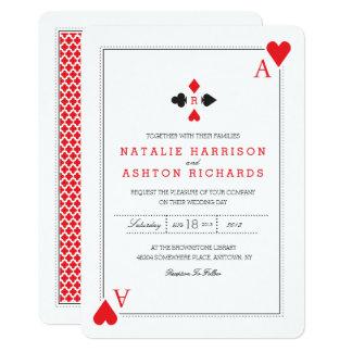 Kasino-Hochzeit laden ein Karte