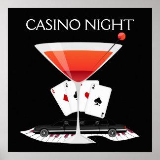 Kasino-Nachtcocktail-Plakat - SRF