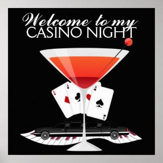 Kasino-Nachtcocktail-Plakat - SRF Poster