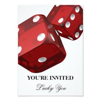 Kasino-Nachtgeburtstags-Feier-Einladung 12,7 X 17,8 Cm Einladungskarte