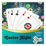 Kasino-Nachtgeburtstags-Party Einladungen