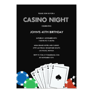 Kasino-NachtParty Einladung