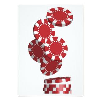Kasino-/Poker-Chips 12,7 X 17,8 Cm Einladungskarte