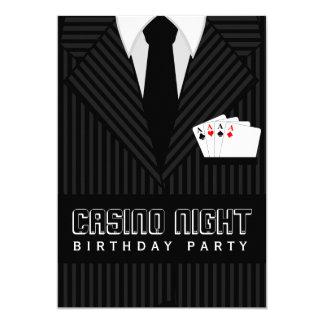 Kasino-Poker-Nachtgeburtstags-Party-Gewohnheit 12,7 X 17,8 Cm Einladungskarte