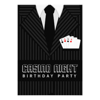 Kasino-Poker-Nachtgeburtstags-Party-Gewohnheit läd