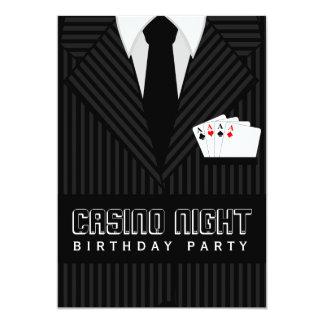 Kasino-Poker-Nachtgeburtstags-Party-Gewohnheit läd Einladungskarte