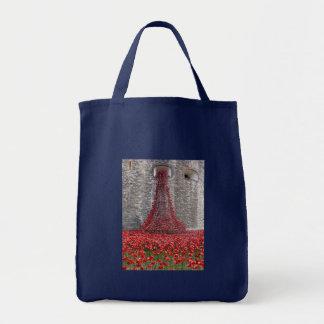 Kaskade der Mohnblumen - Tower von London Tragetasche