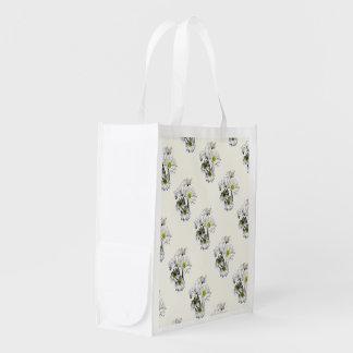 Kaskade der weißen Gänseblümchen Wiederverwendbare Einkaufstasche