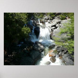 Kaskade fällt an Yosemite Nationalpark Poster