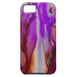 Kaskade im lila Sienna und im Silber iPhone 5 Etui