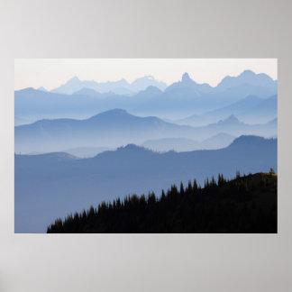 Kaskaden-Berge des Mount Rainier Nationalpark-| Poster
