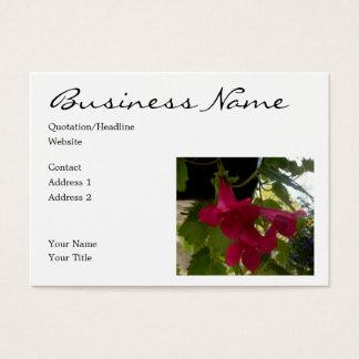 Kaskadierende rote Lofus Blüte Visitenkarte