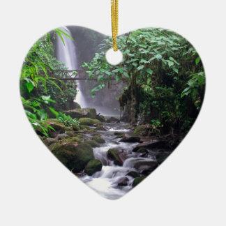 Kaskadierenwasserfall Costa Rica der Ruhe Keramik Ornament