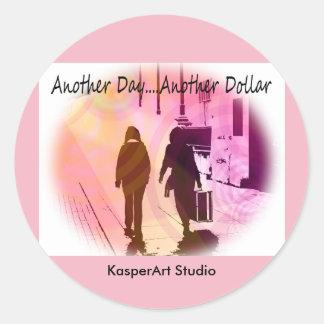 KasperArt Studio-Aufkleber, rund Runder Aufkleber
