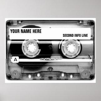 Kassette Mixtape Plakat-Druck Poster