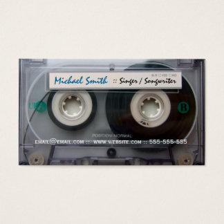Kassetten-Musiker-Visitenkarten Visitenkarte
