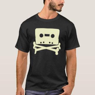 Kassetten-Piratenflagge-Shirt T-Shirt