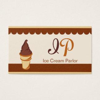 Kastanien-schokoladenbraune Eiscreme-Visitenkarte Visitenkarte