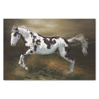Kastanien-Spritzen-Rahmen Tovero Farben-Pferd Seidenpapier