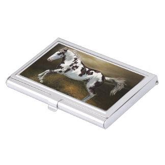 Kastanien-Spritzen-Rahmen Tovero Farben-Pferd Visitenkarten Etui