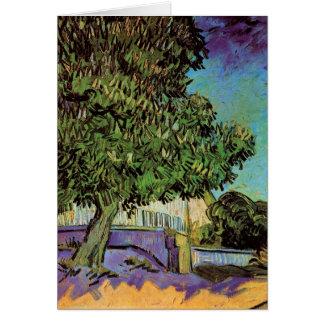 Kastanienbaum in der Blüte durch Vincent van Gogh Karte