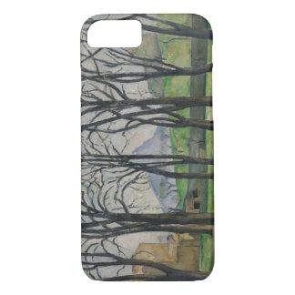 Kastanienbäume bei Jas de Bouffan, c.1885-86 iPhone 8/7 Hülle