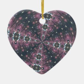Kastanienbraun farbiges Starscape Kaleiscope Keramik Ornament