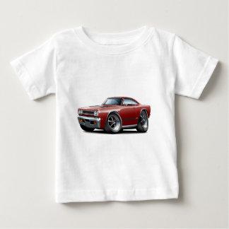 Kastanienbraun-Schwarzes Auto 1968 Plymouths GTX Baby T-shirt