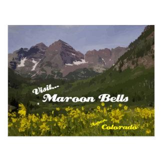 Kastanienbraune Bell-Sonnenblumen - Postkarte