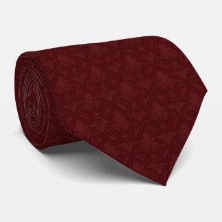 Kastanienbraune Lilien-Muster-Krawatte Krawatten
