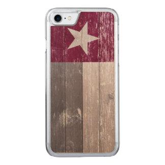 Kastanienbraune Texas-Flagge hölzern gemalt Carved iPhone 8/7 Hülle