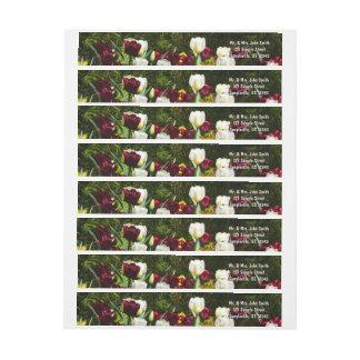 Kastanienbraune und gelbe Tulpe-buntes Blumen