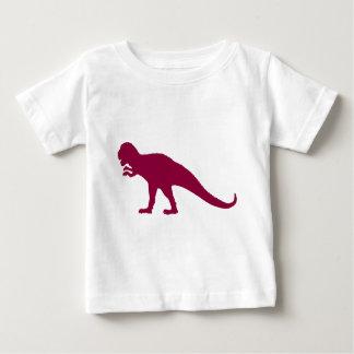 Kastanienbrauner Dinosaurier Baby T-shirt