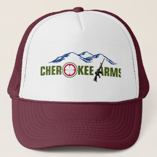 Kastanienbrauner Hut der Cherokee Arme Truckerkappe
