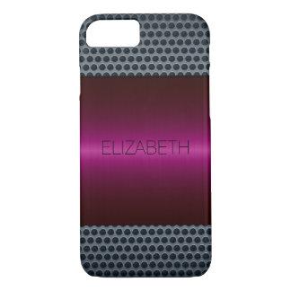 Kastanienbrauner LuxusEdelstahl-Metallblick iPhone 8/7 Hülle