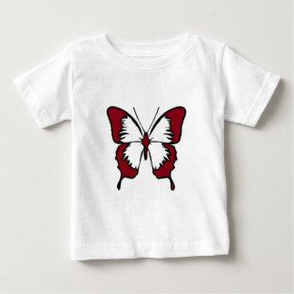Kastanienbrauner Schmetterling Baby T-shirt