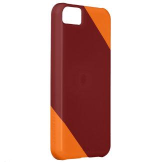 Kastanienbrauner und Orange-Gestreifter IPhone 5 iPhone 5C Hülle