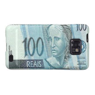 Kasten 100 Brasilianer Reais Banknoten-Samsung-Gal Samsung Galaxy SII Hüllen