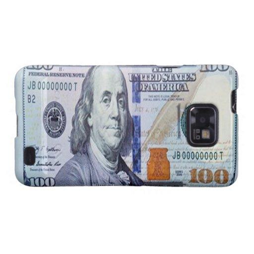 Kasten 100 Dollarscheins Samsung Galaxie-S Galaxy S2 Hüllen