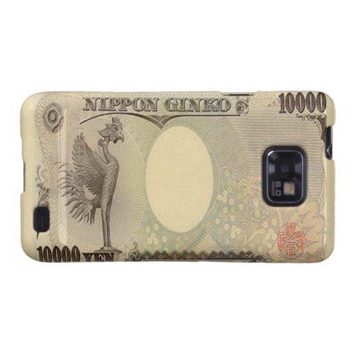 Kasten 10.000 japanische Yen-Banknoten-Samsung-Gal Galaxy SII Case