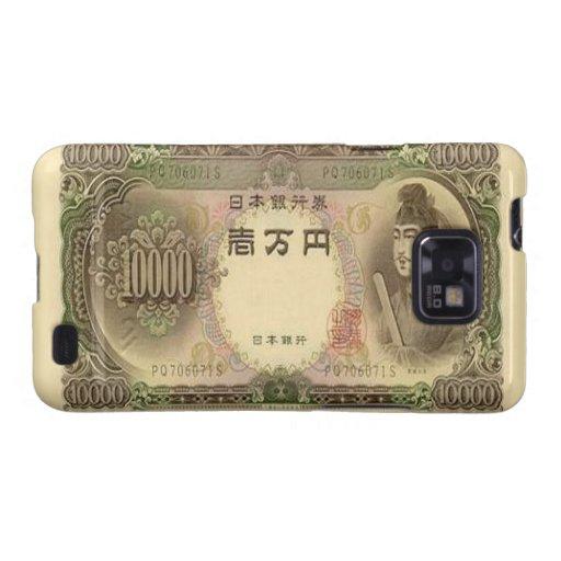 Kasten 10.000 japanische Yen-Banknoten-Samsung-Gal Galaxy SII Hülle
