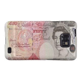 Kasten 50 Pfund-Banknoten-Samsung-Galaxie-S Samsung Galaxy SII Cover