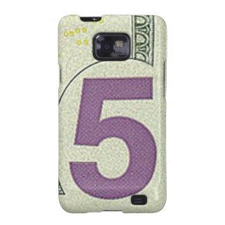 Kasten 5 Dollarscheins Samsung Galaxie-S Galaxy S2 Hülle