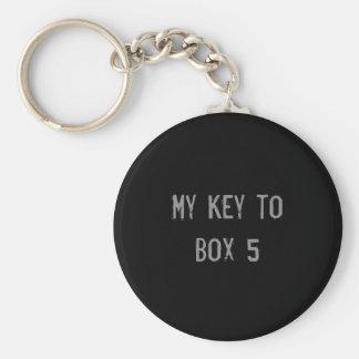 Kasten 5 Keychain Schlüsselanhänger