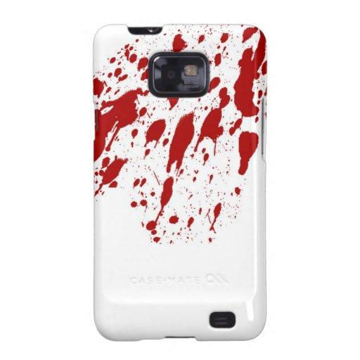 Kasten Blut-Spritzer-Samsungs-Galaxie-S Galaxy S2 Case